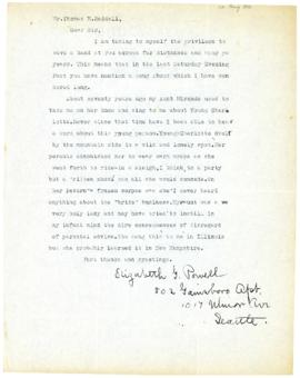 Correspondence between Thomas Head Raddall and Elizabeth G. Powell