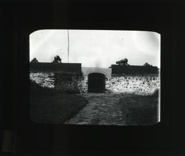 Photograph of cannons near an entrance to Fort Anne, Annapolis Royal, Nova Scotia