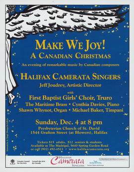 Make we joy : a Canadian Christmas : [poster]