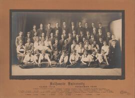 Photograph of Class of 1918 Freshman Year