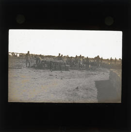 Photograph of unidentified soldiers at camp