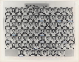 Photograph of Faculty of Law first year class of 1971-1972