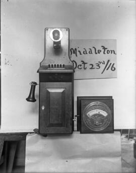 Photograph of Antique telephone from Middleton, Nova Scotia