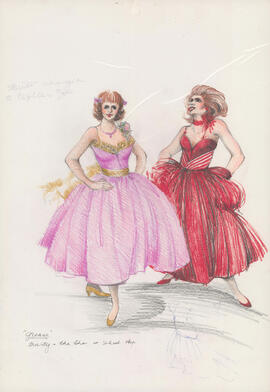 Costume design for Marty and Cha Cha at school hop