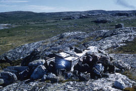 Photograph of an Inuit grave in old Fort Chimo, Quebec
