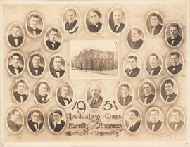 Composite photograph of Graduating Class and Faculty of Pharmacy