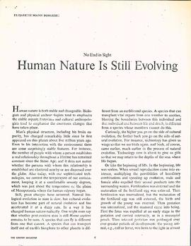 No end in sight : human nature is still evolving by Elisabeth Mann Borgese