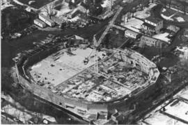 Aerial photograph of Dalplex during construction
