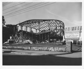 Photograph of the F. H. Sexton Memorial Gymnasium construction