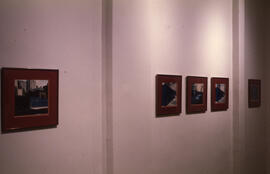 Photograph of five photographs displayed as part of Locations/National group exhibition
