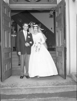 Photograph of Mr. & Mrs. Bennett on their wedding day