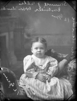 Photograph of Samuel J. Ellis' daughter