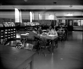 Photograph of the interior of a library