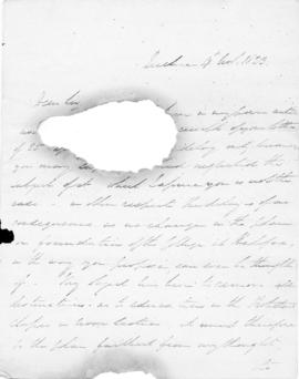 Letter from Thomas McCulloch to Lord Dalhousie