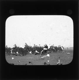 Photograph of unidentified soldiers on horseback