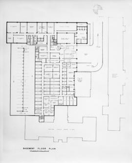 Drawing of the layout of the basement of the Sir Charles Tupper Medical Building