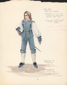 Costume design for Viola as Cesario