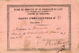 Carte d'inscription = Registration card