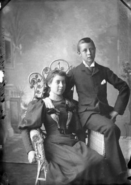 Photograph of Mr. Meikle and sister