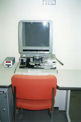 Photograph of Microform reader in the Killam Memorial Library, Dalhousie University