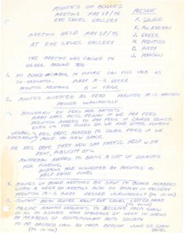Minutes of the board's meeting from May 28, 1975