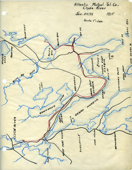 Maps of Atlantic Mutual Telephone Company's telephone line