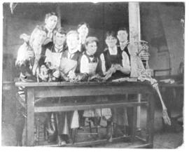 Photograph of students in the Anatomy Laboratory