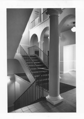 Photograph of a staircase in the Chase Building