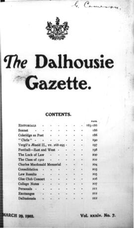 The Dalhousie Gazette, Volume 34, Issue 7