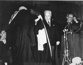 Photograph of the installation of Henry Hicks as president of Dalhousie University