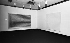 Photograph of an installation by Gerald Ferguson