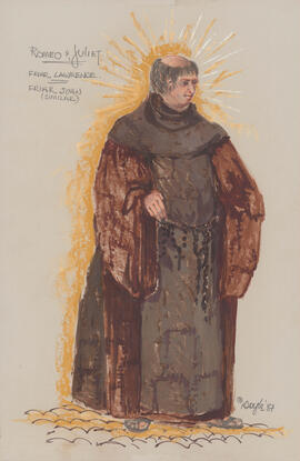 Costume design for Friar Lawrence and Friar John