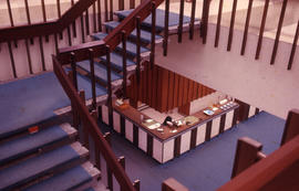 Photograph of the W.K. Kellogg Health Science Library staircase