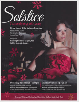 Solstice with Nicole Jordan and the Academy Ensemble : [poster]