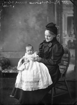 Photograph of Nurse Robertson and baby
