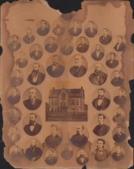 Photographic collage of the Halifax Medical College faculty and class