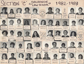 Photographic collage of section C of the Dalhousie Law School class of 1982-1983
