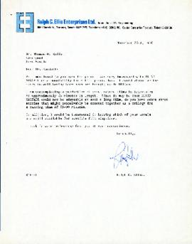 Correspondence between Thomas Head Raddall and Ralph C. Ellis (Ralph C. Ellis Enterprise)