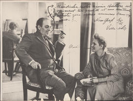 Heitor Villa Lobos and Arminda Villa Lobos in New York