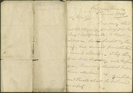 A letter from John Tod to James Dinwiddie