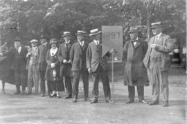 Photograph of members of the class of 1897 at a Dalhousie alumni procession