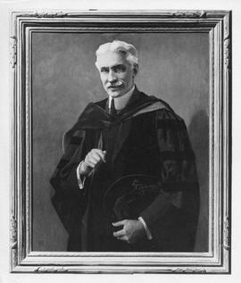 Photograph of a painting of A. S. MacKenzie as president of Dalhousie