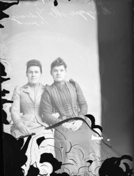 Photograph of Miss. Maggie McGillvary and her friend