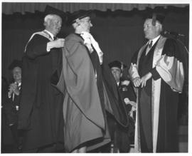 Photograph of Lola Henry receiving an honorary degree