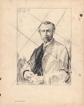 Unfinished Arthur Lismer portrait of James Gordon MacGregor commissioned for One hundred years of...