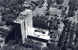 Aerial photograph of the Sir Charles Tupper Medical Building under construction