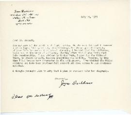 Correspondence between Thomas Head Raddall and Joyce Barkhouse
