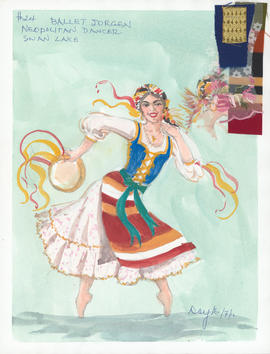 Costume design for Neapolitan Dancer