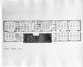 Drawing of the layout of a typical teaching floor in the Sir Charles Tupper Medical Building