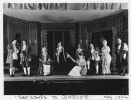 Photograph of the cast of She Stoops to Conquer